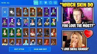 Symfuhny Shows ALL HIS SKINS To Brooke (Fortnite Skin Collection) | Fortnite Daily Funny Moments