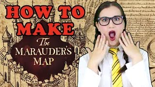 How To Make a Harry Potter Marauders Map - Madi2theMax