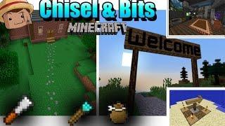 Minecraft Mod [ Chisel & Bits Mod ] 1.8 Crea bloques decorativos !