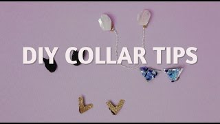 DIY Collar Tips (No holes!)