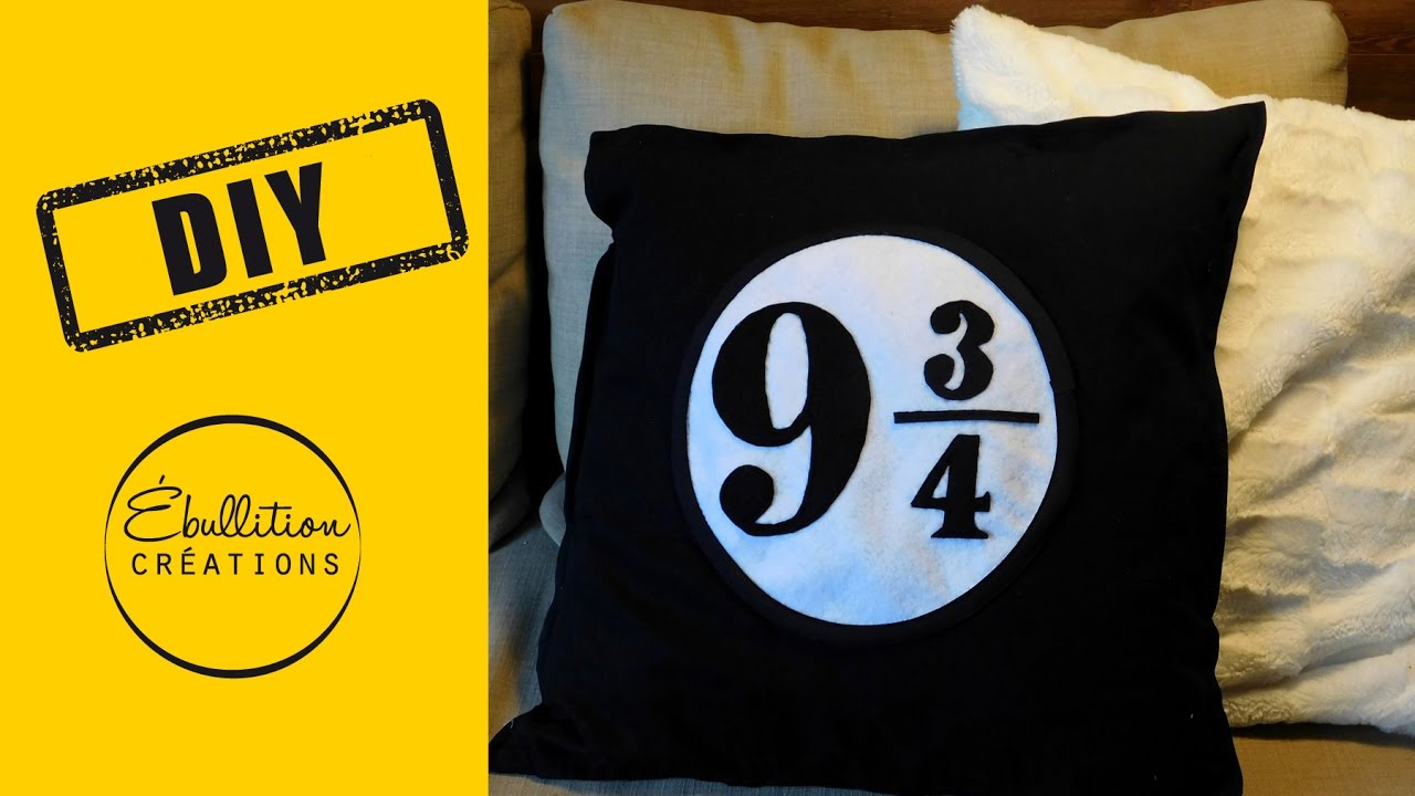 coussin harry potter DIY Harry Potter   coussin plateforme 9 3/4   Plattform 9 3/4  coussin harry potter