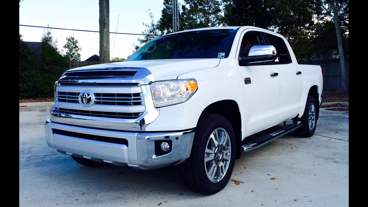 Awesome 2015/2016 Toyota Tundra CrewMax 4x2 1794 Edition 5.7L V8 Full Review /Start  Up /Exhaust   YouTube