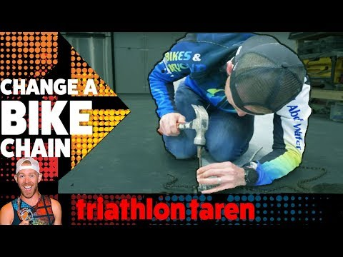 How to REMOVE A BIKE CHAIN without special tools (don't do this to your triathlon bike)