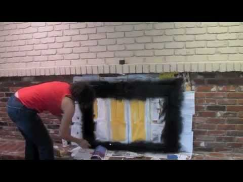 How to paint an old brick fireplace diy tutorial thrift diving how to paint an old brick fireplace diy tutorial thrift diving youtube solutioingenieria Gallery