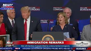 SIDE BY SIDE: President Trump w/ family members of those killed by undocumented immigrants (FNN)