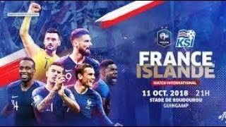 Pronostic France-Islande (11 octobre 2018)