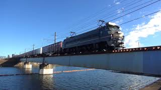 貨物列車 5097レ EF66-27 2017/12/09 鶴見川鉄橋