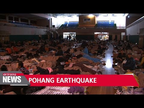 Pohang citizens take shelter after M5.4 earthquake rattles southeast Korea