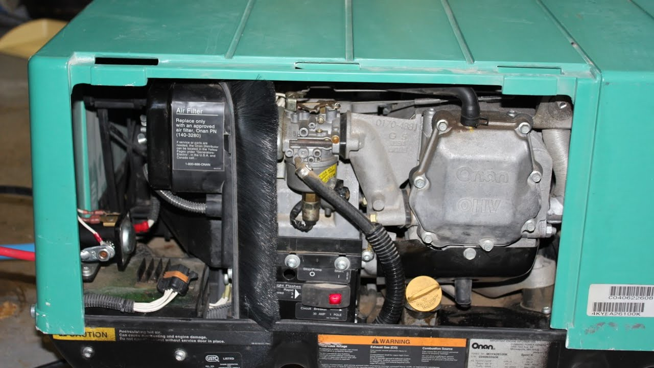 Onan 4000 generator fix, runs fine then stops  YouTube