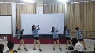 exid ah yeah hot pink up and down simplymax dance cover 151206 at cdf 11