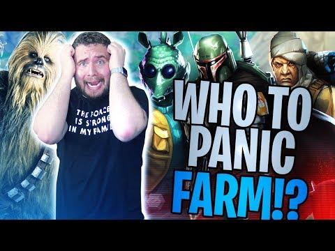 Fastest Panic Farm Bounty Hunters for Legendary Chewbacca!? | Star Wars: Galaxy of Heroes