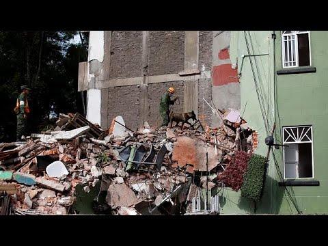 شاهد: انفجار مبنى خلال الزلزال الذي ضرب المكسيك  - نشر قبل 11 ساعة