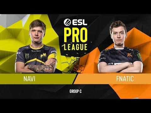 VOD: fnatic vs navi - esl pro league s9 - g2