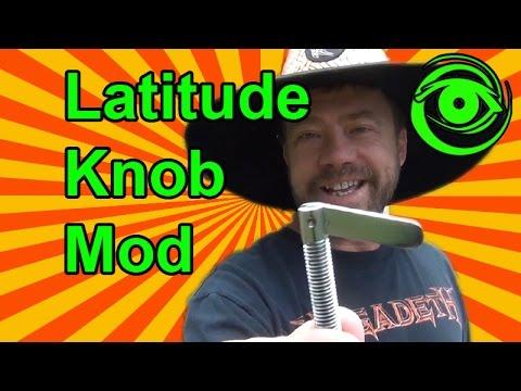 Easy DIY Latitude Knob Mod for Equatorial Telescope Mounts