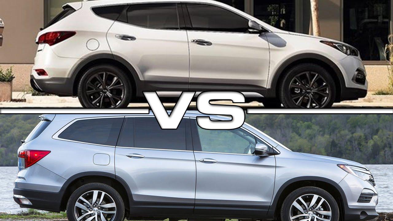 Hyundai Santa Fe Vs Honda Pilot >> Hyundai Santa Fe Vs Honda Pilot Youtube