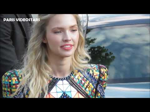 VIDEO Sasha LUSS @ Balmain fashion show 21 june 2019 Paris Fashion Week