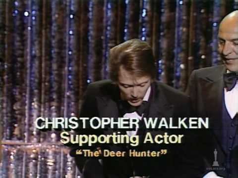 Christopher Walken winning an Oscar®  for