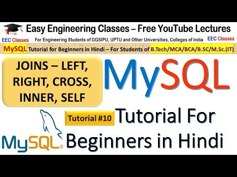 MySQL Tutorial #10: JOINS - Cross, Inner, Left, Right and Self Join with Solved Examples