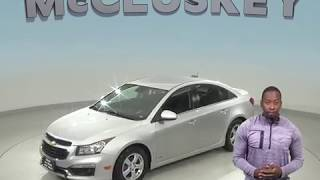A98919GP Used 2015 Chevrolet Cruze 1LT FWD 4D Sedan Silver Test Drive, Review, For Sale -