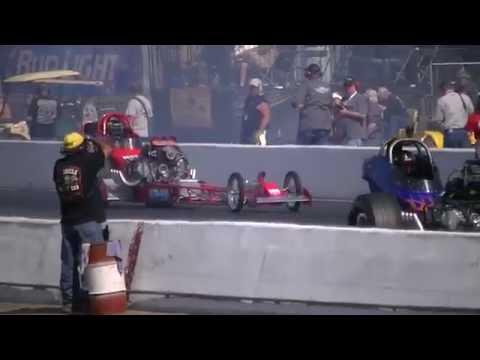 Dusty Green vs Rick Williamson Burnouts March Meet 2015 E2