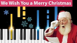 We Wish You a Merry Christmas - Piano Tutorial - How to play We Wish You a Merry Christmas