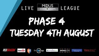 The MODUS ICONS OF DARTS LIVE LEAGUE - TUESDAY 4TH AUGUST