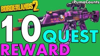 Top 10 Best Quest and Mission Reward Guns and Weapons in Borderlands 2 #PumaCounts