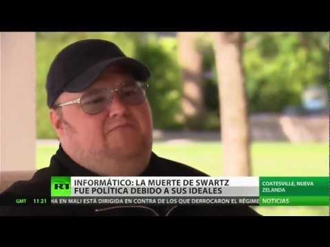 """Kim Dotcom a RT: """"Aaron Swartz fue perseguido por resistirse a la SOPA"""""""