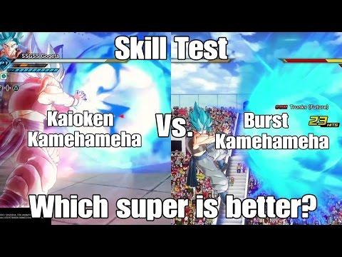 Xenoverse 2 Skill test! Kaioken Kamehameha VS. Burst Kamehameha