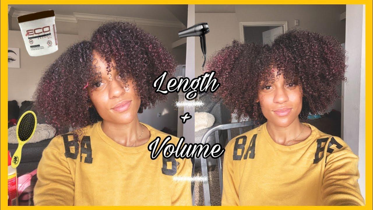 WASH N GO tutorial on type 4 natural hair🌀 | Length + Volume | Toya + Curls