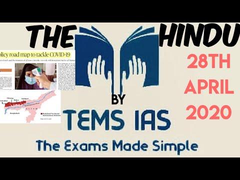 The Hindu Newspaper 28th April 2020