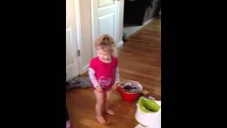 Traumatized toddlers first potty poop