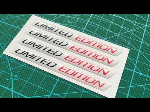 Limited Edition - 3D Domed Stickers