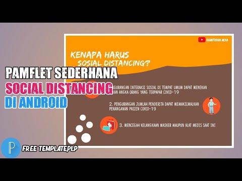 Pamflet Sederhana Social Distancing Diandroid Youtube