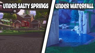 3 UNDER MAP GLITCH SPOTS SALTY SPRINGS, LOOT LAKE WATERFALL, AND BRIDGE FORTNITE BR GLITCH ATK