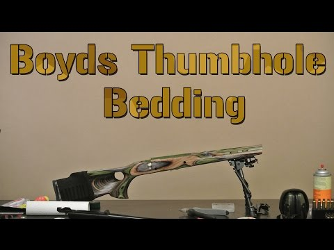 How to Bed a Rifle, Bedding a Boyds Featherweight Thumbhole
