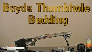 how to bed a rifle bedding a boyds featherweight thumbhole