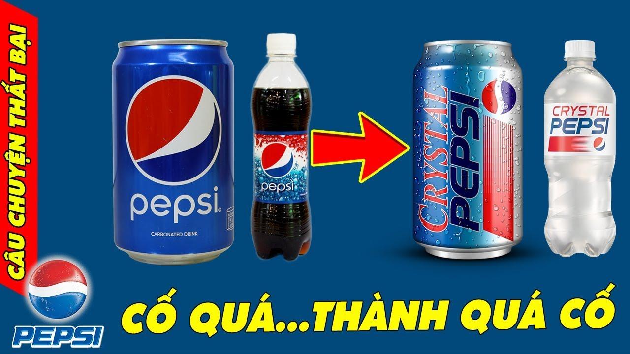 CHUYỆN THẤT BẠI CỦA PEPSI: 2 Lần 'Tẩy Trắng' Đồ Uống Thành Trong Suốt Và Cái Kết Thảm Hại Của Pepsi
