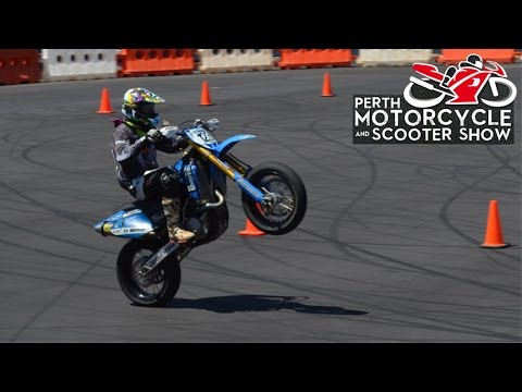 Perth Motorcycle Show - Supermoto Races (NO MUSIC)