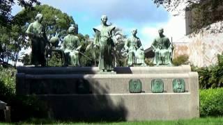 熊本・高橋公園 熊本城須戸口門そば1、坂本龍馬・勝海舟・横井小楠・松...