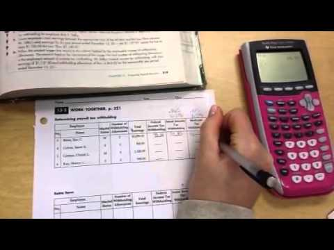 13-2 Determining Payroll Tax Withholding - YouTube