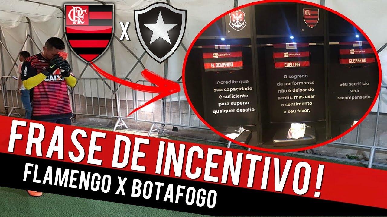 Flamengo Deixa Frase De Motivação P Jogadores Flamengo X Botafogo