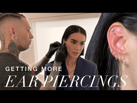Getting MORE Custom Ear Piercings (during NYFW) // Brittany Xavier