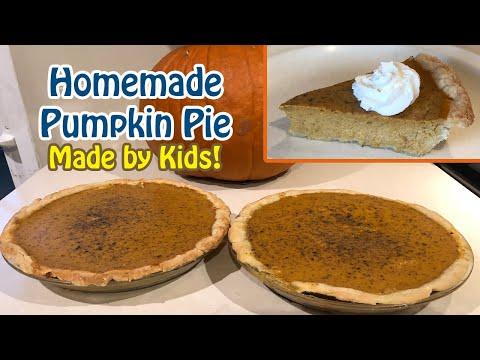 Pumpkin Pie Homemade By Kids