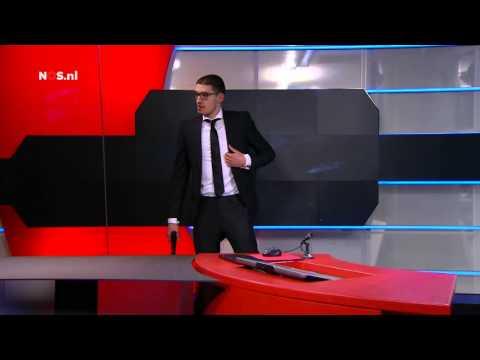 19 year-old Tarik Z assaults dutch news studio NOS