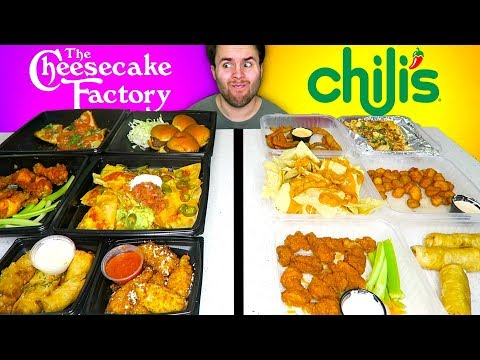 CHEESECAKE FACTORY Vs. CHILI'S - Appetizers Edition!