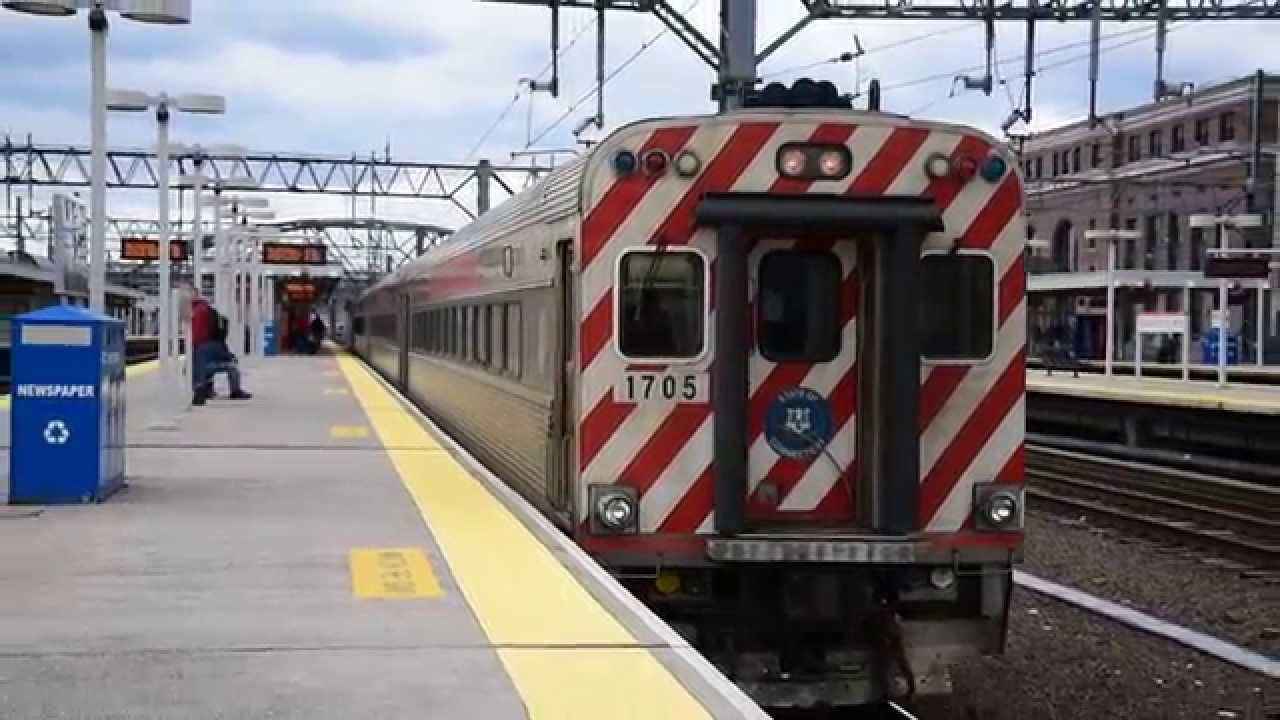 shore line east mafersa cab car 1705 pushed by ge p40dc 840