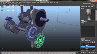 3D Mechanical Rigging Tutorial | Engine Rigging Maya | Autodesk 3D