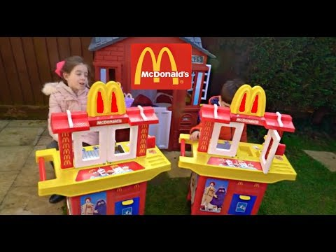 Kitchen with Toys Pretend Play Fun For Kids at McDonald's ...