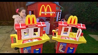 McDonald's Drive Thru Kitchen with Toys Pretend Play Fun For Kids